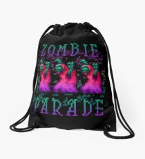 Zombie Parade Drawstring Bag
