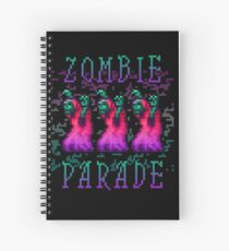 Zombie Parade Spiral Notebook