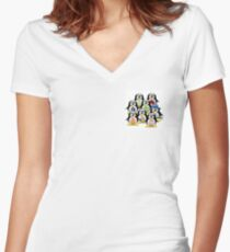 Family Tux  Women's Fitted V-Neck T-Shirt