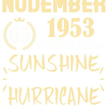 Born in November 1953 65 Years of Being Sunshine Mixed with a Little Hurricane by dragts