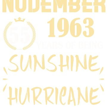 Born in November 1963 55 Years of Being Sunshine Mixed with a Little Hurricane by dragts