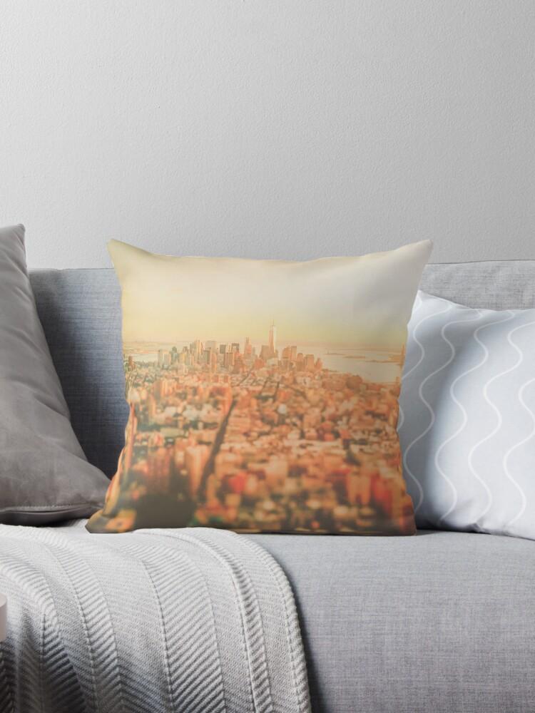 New York City - Skyline bei Sonnenuntergang von Vivienne Gucwa