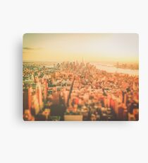 New York City - Skyline at Sunset Canvas Print