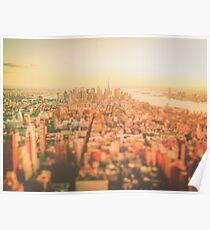 New York City - Skyline at Sunset Poster
