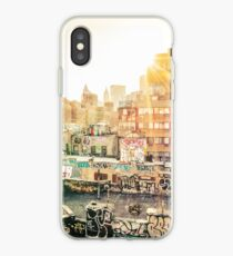 Graffiti Rooftops at Sunset - Chinatown - New York City iPhone Case