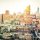 Graffiti Rooftops at Sunset - Chinatown - New York City by Vivienne Gucwa