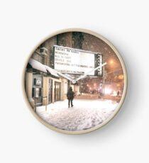 Reloj New York City - A Snowy Night on 2nd Avenue