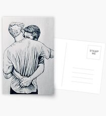 Casual clothes hug Postcards