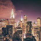 Chrysler Building - Night - New York City by Vivienne Gucwa