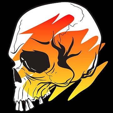 Skull Swoosh Fire by machmigo