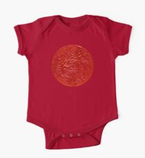 STAR, Burning Star, Fire Ball, Flame Ball, BURN, on Red One Piece - Short Sleeve