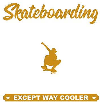 Skateboarding Dad Gift T Shirt by PinkDesigns