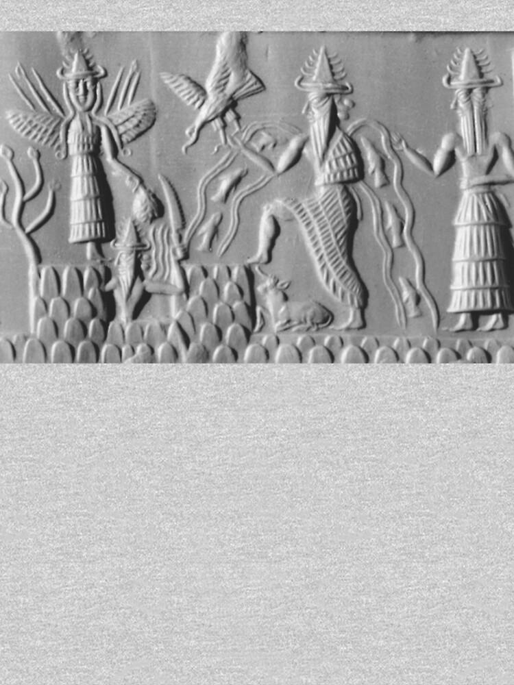 Three members of the Anunnaki, Sumerian; Gods of the sky by TOMSREDBUBBLE
