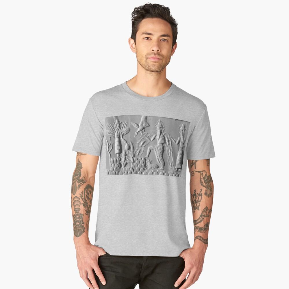 Three members of the Anunnaki, Sumerian; Gods of the sky Men's Premium T-Shirt Front