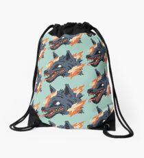 Fire wolf Drawstring Bag