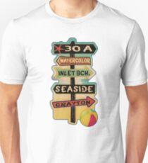 30 A Florida Walton County Watercolor Inlet Beach Seaside Grayton Beach Unisex T-Shirt