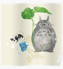 My Neighbor Totoro Giclee Vintage Digital Art  Poster