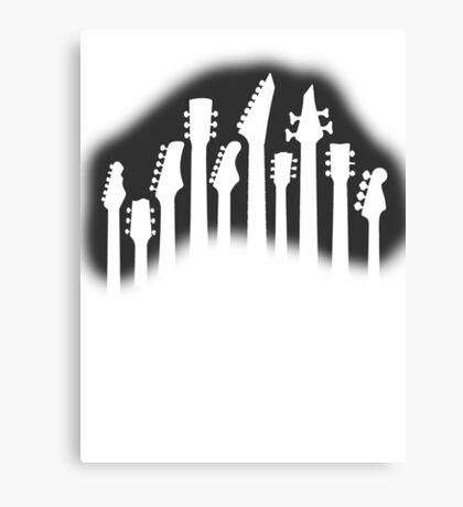 Guitar Collection Canvas Print