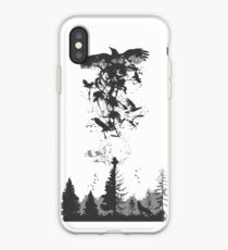 Itachi Crows Destruction Ninja iPhone Case