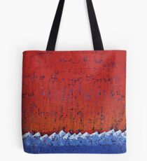 Snowcaps original painting Tote Bag