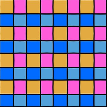 Blue, yellow and pink checkered by patricmouth