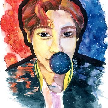 chanyeol, park chanyeol, exo, exo fanart, chanyeol fanart, kpop, kpop fanart, watercolo by -AllieB-