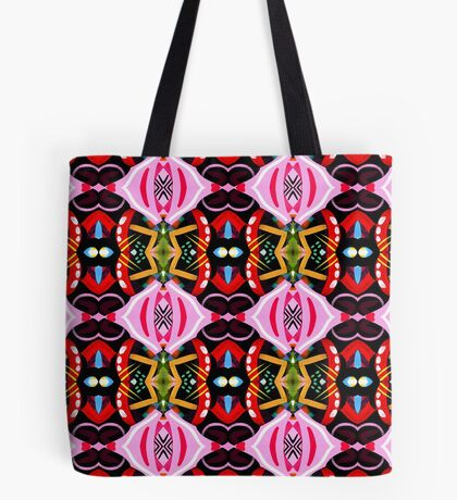 Pink Abstract Pattern Tote Bag
