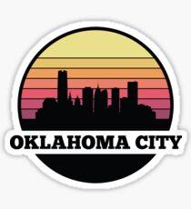 Oklahoma City skyline Sticker