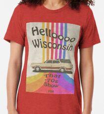 Hello Wisconsin Tri-blend T-Shirt