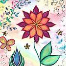 """Handgemaltes Bild """"Farbenrausch"""" von Sylvia Polis"""