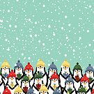 Christmas penguins by grafart