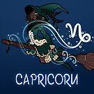 Capricorn Zodiac Witch by evocaitart