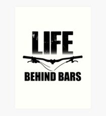 Lámina artística Life Behind Bars Mountain Biking / Diseño de MTB