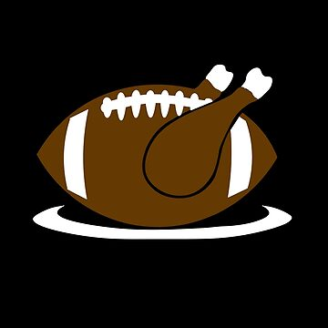 Football Season Thanksgiving Fall Funny Turkey by ccheshiredesign