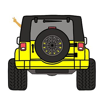 Jeep Wave Back View - Yellow Jeep by indicap