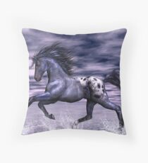 Blue Roan Appaloosa Throw Pillow