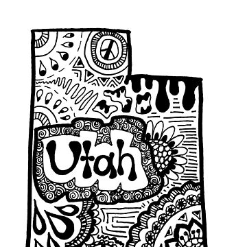 Utah State Zentangle by alexavec