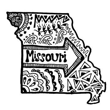 Missouri State Zentangle by alexavec