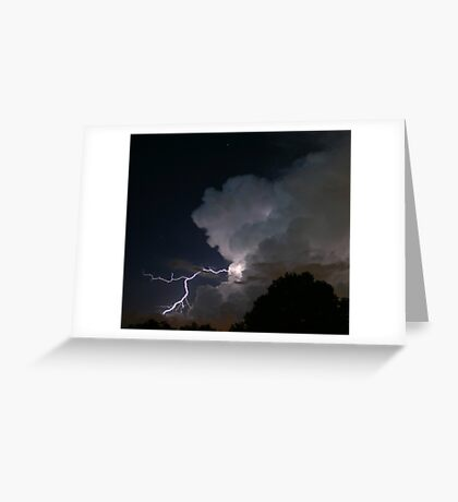 Late Evening Thunderstorm Greeting Card