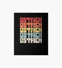Ostrich Breeder - Gift For Ostrich Farmers Art Board