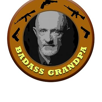 Badass Grandpa TShirt by techman516