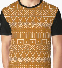 Mudcloth Style 1 in Orange Graphic T-Shirt