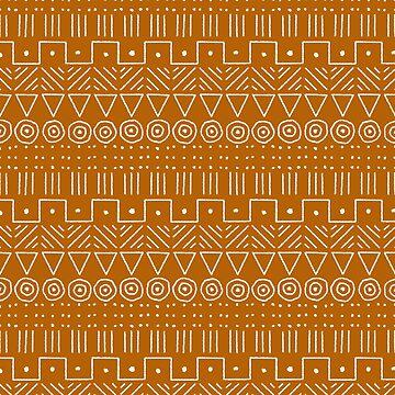 Mudcloth Style 1 in Orange by MelFischer