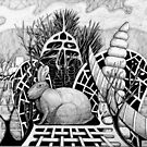280 - RABBIT GROTTO - DAVE EDWARDS - INK - 2018 by BLYTHART