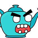 angry zombie teapot by shortstack
