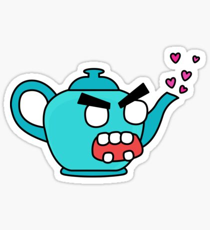 angry zombie teapot Sticker