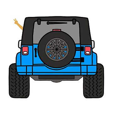 Jeep Wave Back View - Blue Jeep by indicap