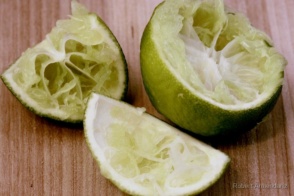 Freshed Squeezed Limes by Robert Armendariz