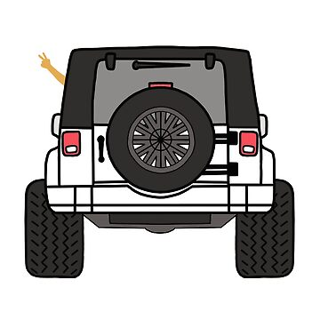 Jeep Wave Back View - White Jeep by indicap