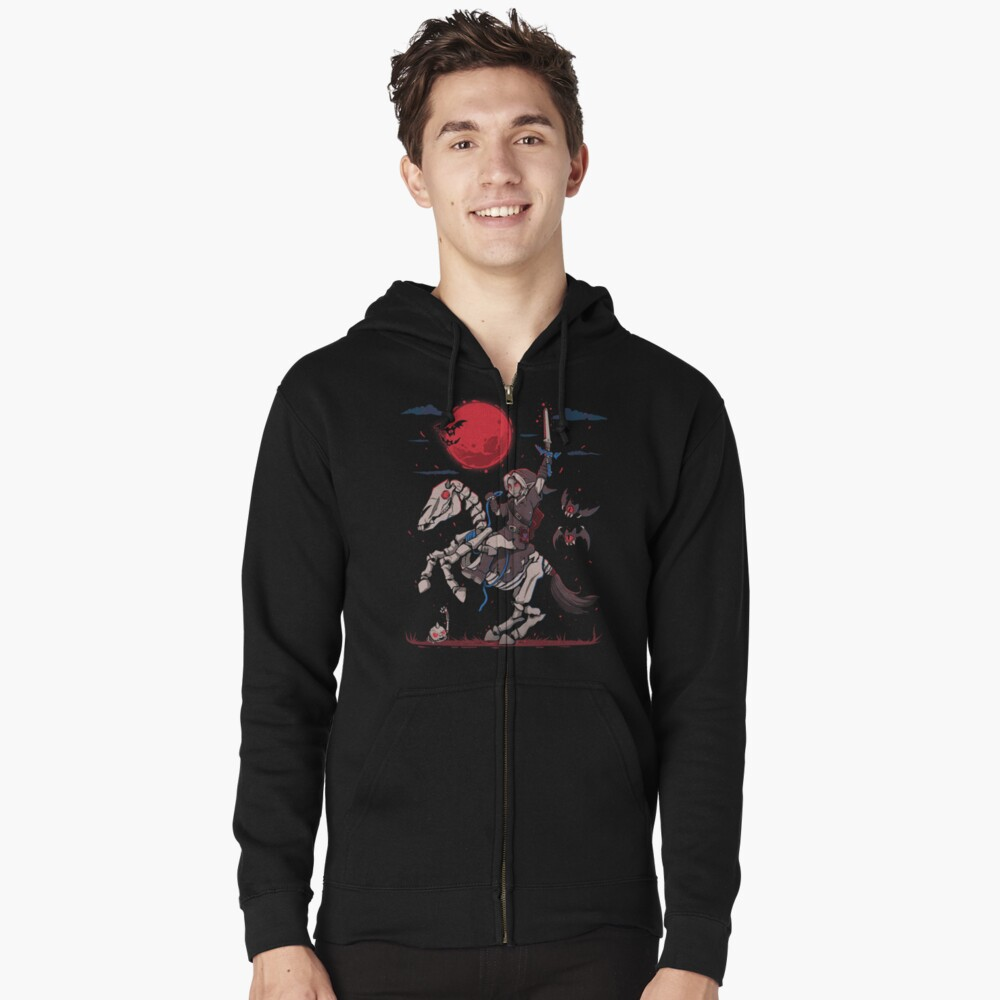 The Red Moon Rises  Zipped Hoodie
